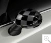 MINI Aussenspiegelkappen Checkered Black Grey F54